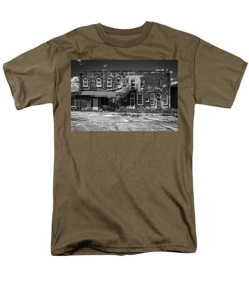 Men's T-Shirt  (Regular Fit) featuring the photograph Back Lot - Bw by Christopher Holmes