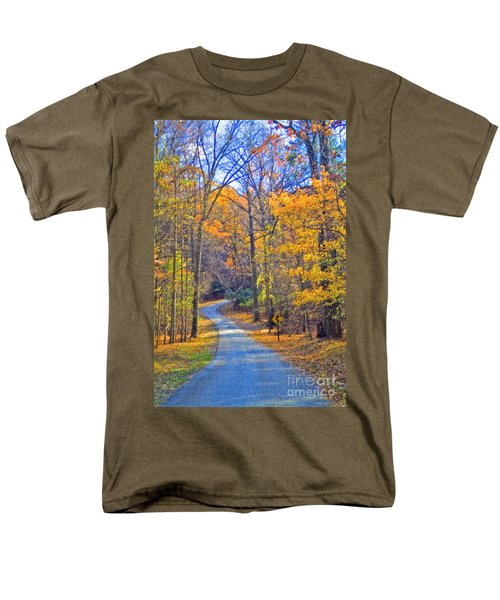 Men's T-Shirt  (Regular Fit) featuring the photograph Back Road Fall Foliage by David Zanzinger