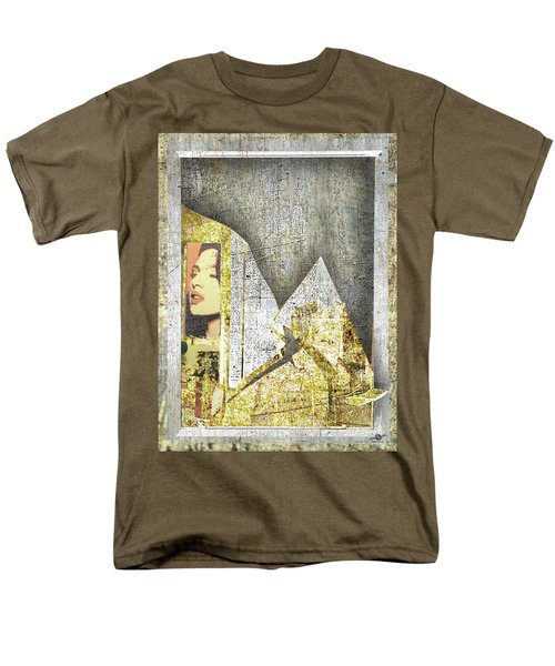 Men's T-Shirt  (Regular Fit) featuring the mixed media Bad Luck by Tony Rubino