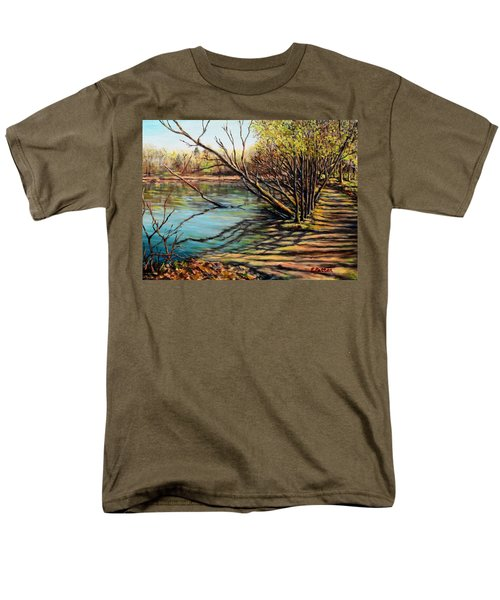 Bakers Pond Ipswich Ma Men's T-Shirt  (Regular Fit) by Eileen Patten Oliver