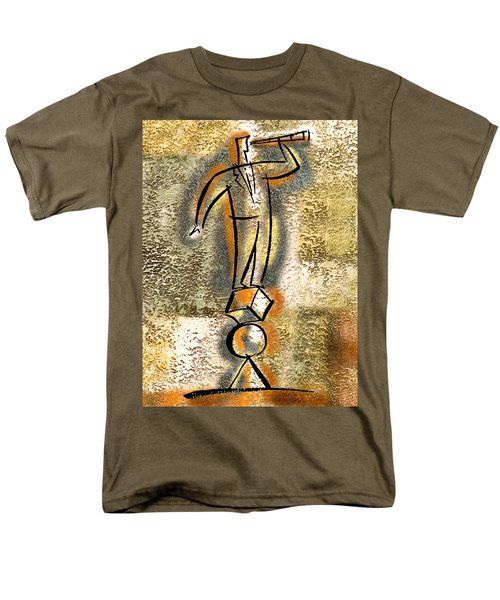 Men's T-Shirt  (Regular Fit) featuring the painting Balance by Leon Zernitsky