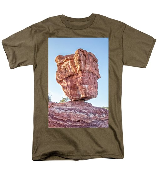 Men's T-Shirt  (Regular Fit) featuring the photograph Balanced Rock In Garden Of The Gods, Colorado Springs by Peter Ciro