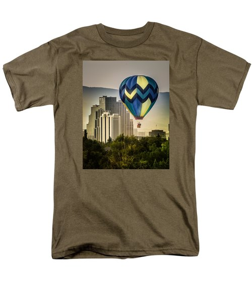 Men's T-Shirt  (Regular Fit) featuring the photograph Balloon Over Reno by Janis Knight