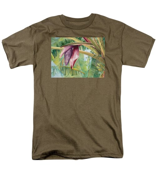 Men's T-Shirt  (Regular Fit) featuring the painting Banana Flower by AnnaJo Vahle