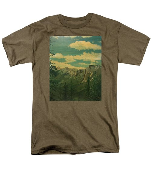 Men's T-Shirt  (Regular Fit) featuring the painting Banff by Terry Frederick