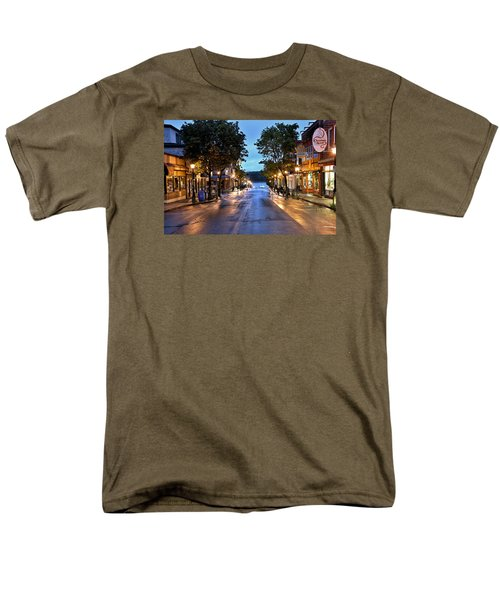 Bar Harbor - Main Street Men's T-Shirt  (Regular Fit) by Brendan Reals