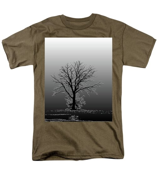 Bare Tree In Fog- Pe Filter Men's T-Shirt  (Regular Fit) by Nancy Landry