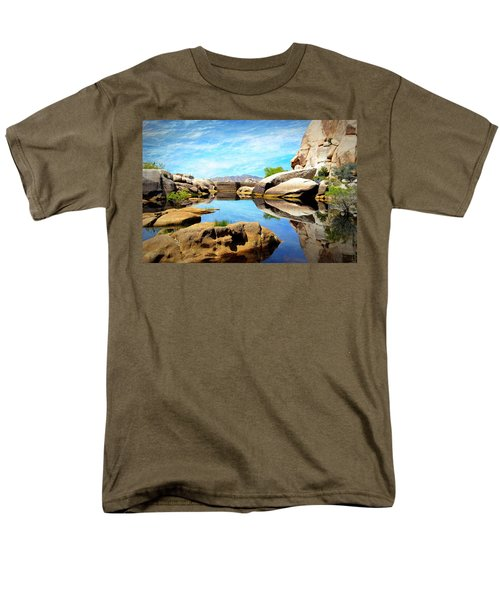 Men's T-Shirt  (Regular Fit) featuring the photograph Barker Dam - Joshua Tree National Park by Glenn McCarthy Art and Photography
