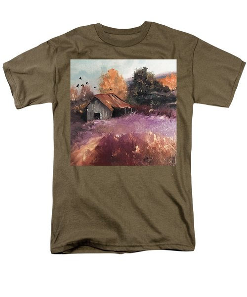 Barn And Birds  Men's T-Shirt  (Regular Fit) by Michele Carter