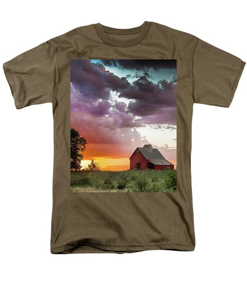 Men's T-Shirt  (Regular Fit) featuring the photograph Barn In Stormy Skies by Dawn Romine