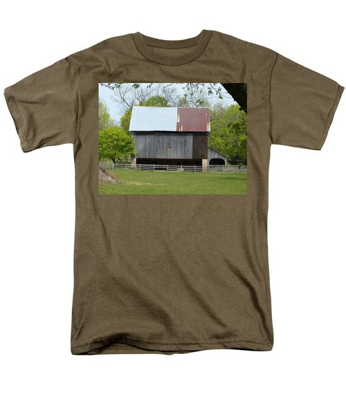 Men's T-Shirt  (Regular Fit) featuring the photograph Barn Of Fair Hill by Donald C Morgan