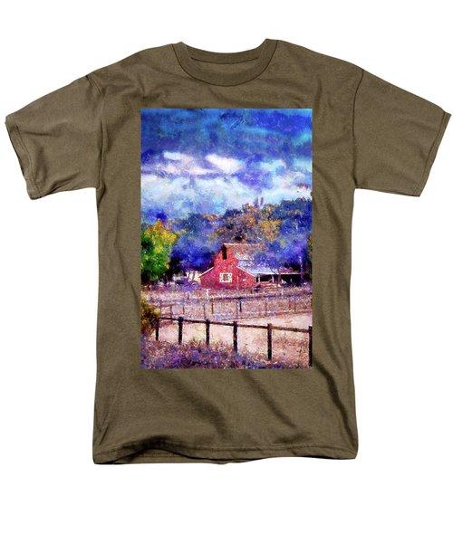 Barn On Ca Highway 154 Men's T-Shirt  (Regular Fit) by Joseph Hollingsworth