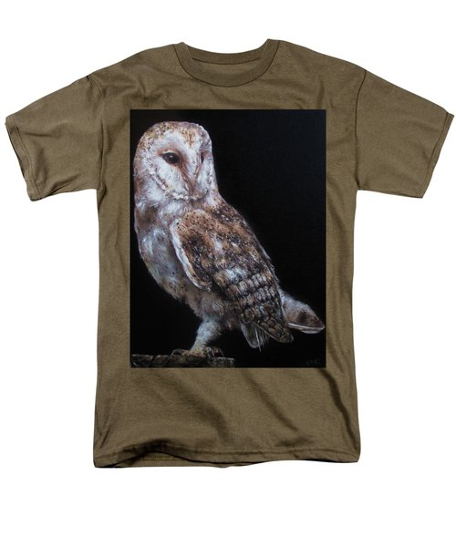 Men's T-Shirt  (Regular Fit) featuring the painting Barn Owl by Cherise Foster