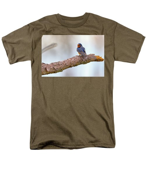 Barn Swallow On Assateague Island Men's T-Shirt  (Regular Fit) by Rick Berk