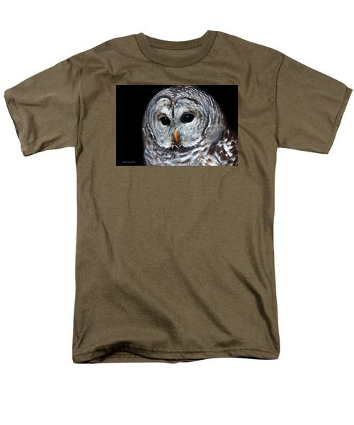 Barred Owl Portrait Men's T-Shirt  (Regular Fit) by CR  Courson