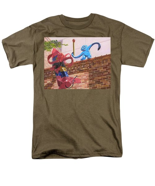 Men's T-Shirt  (Regular Fit) featuring the painting Barrel Of Fun by Lynne Reichhart