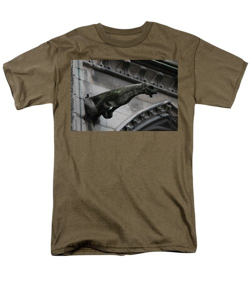 Men's T-Shirt  (Regular Fit) featuring the photograph Bat Eared Dog Gargoyle Of Notre Dame by Christopher Kirby