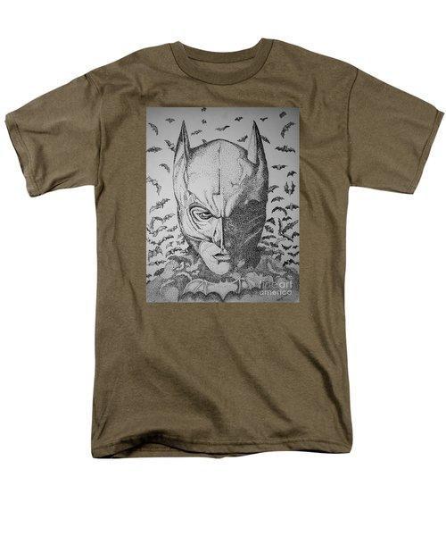 Men's T-Shirt  (Regular Fit) featuring the drawing Batman Flight by Tamyra Crossley