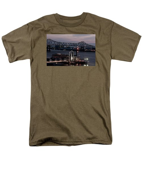 Men's T-Shirt  (Regular Fit) featuring the photograph Baton Rouge Bridge by Helen Haw