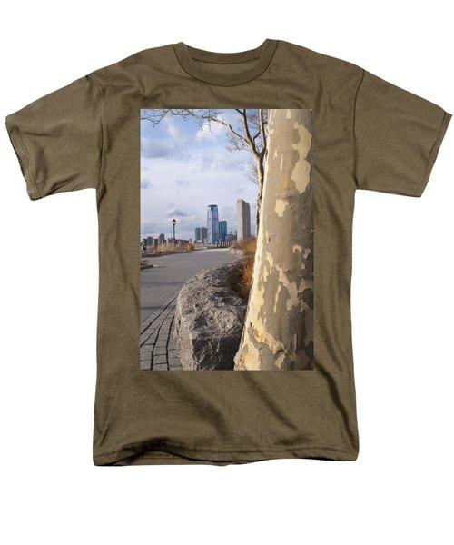 Battery Park Men's T-Shirt  (Regular Fit) by Henri Irizarri