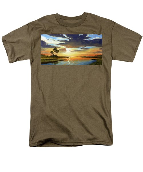Bay Sunset Men's T-Shirt  (Regular Fit) by Rick McKinney