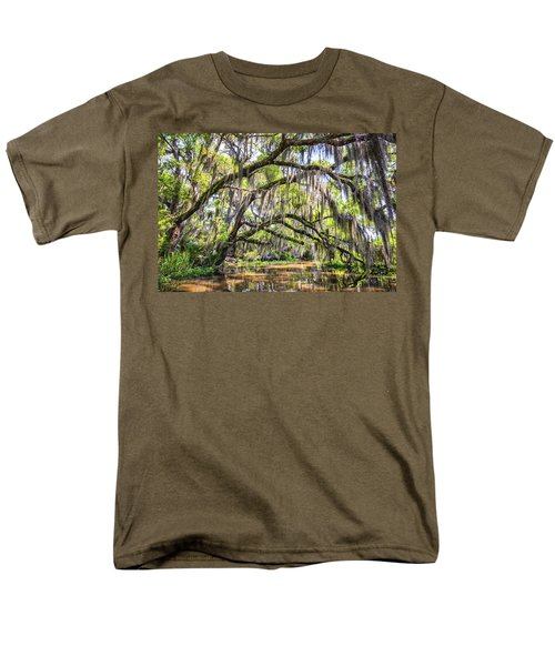 Bayou Cathedral Men's T-Shirt  (Regular Fit) by Andy Crawford