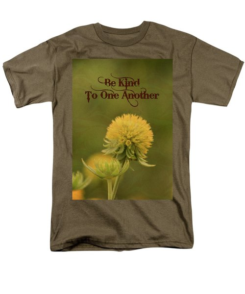 Men's T-Shirt  (Regular Fit) featuring the mixed media Be Kind To One Another by Trish Tritz
