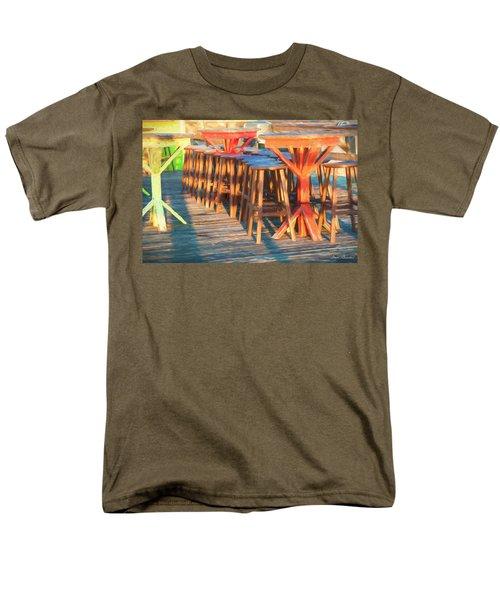 Beach Bar Morning Men's T-Shirt  (Regular Fit) by Glenn Gemmell