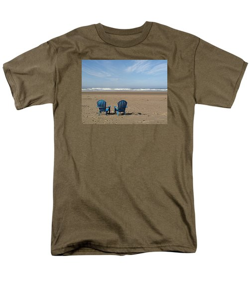 Men's T-Shirt  (Regular Fit) featuring the photograph Beach Chair Pair by Suzy Piatt
