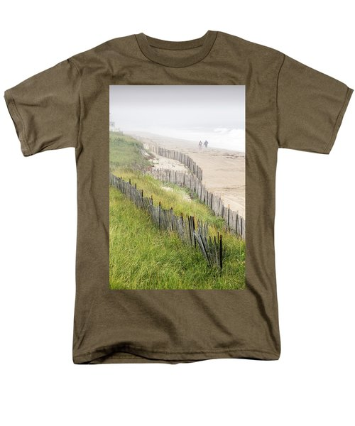 Beach Fences In A Storm Men's T-Shirt  (Regular Fit) by Betty Denise