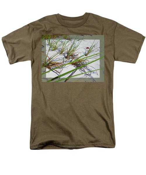 Men's T-Shirt  (Regular Fit) featuring the photograph Beach Grass by Ginny Schmidt