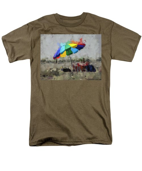 Men's T-Shirt  (Regular Fit) featuring the mixed media Beach Ready by Trish Tritz