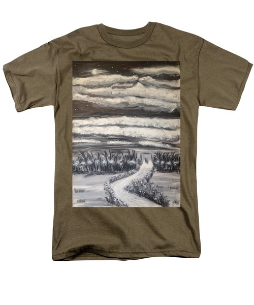 Men's T-Shirt  (Regular Fit) featuring the painting Beach Walk by Diane Pape