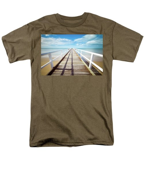 Men's T-Shirt  (Regular Fit) featuring the photograph Beach Walk by MGL Meiklejohn Graphics Licensing