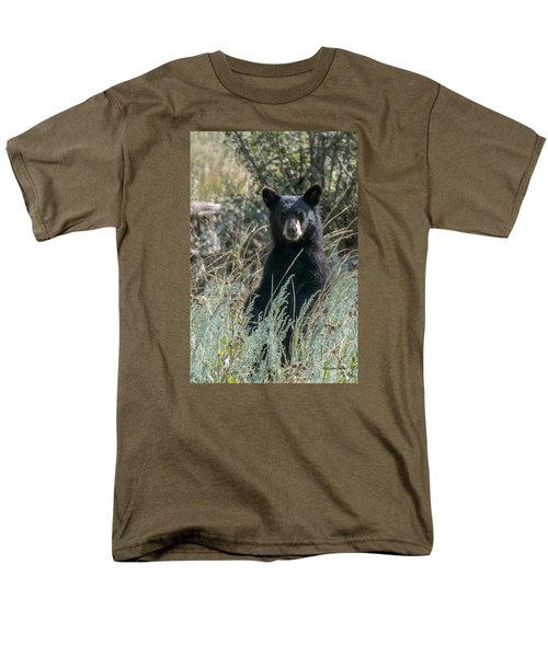 Bear Cub At Waterton Canyon Men's T-Shirt  (Regular Fit) by Stephen  Johnson