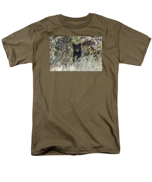 Bear Cub Looking For Mom Men's T-Shirt  (Regular Fit) by Stephen  Johnson