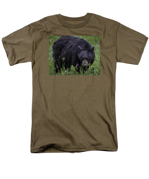 Bear Gaze Men's T-Shirt  (Regular Fit) by Elizabeth Eldridge
