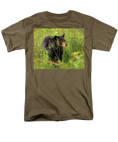 Men's T-Shirt  (Regular Fit) featuring the photograph Bear In The Grass by Coby Cooper