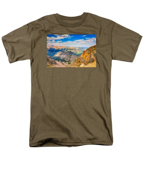 Men's T-Shirt  (Regular Fit) featuring the photograph Beartooth Highway Scenic View by John M Bailey