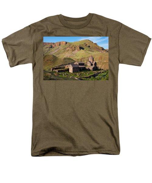 Beautiful Vorotnavank Monastery At Evening, Armenia Men's T-Shirt  (Regular Fit) by Gurgen Bakhshetsyan