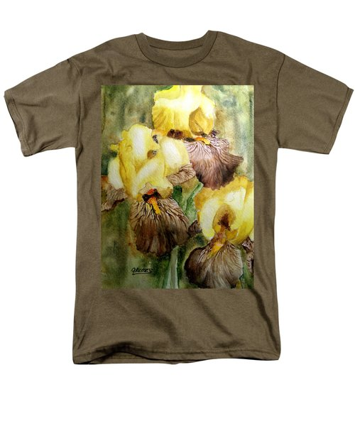 Men's T-Shirt  (Regular Fit) featuring the painting Beautiful Yellow Iris by Carol Grimes