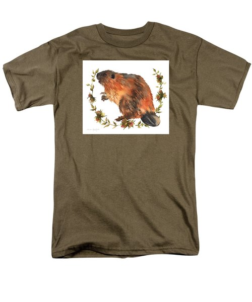 Beaver Painting Men's T-Shirt  (Regular Fit) by Alison Fennell