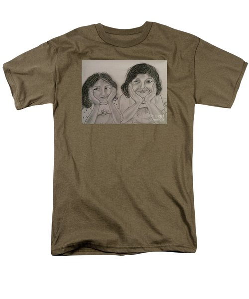 Men's T-Shirt  (Regular Fit) featuring the painting Bedtime Stories by Brindha Naveen