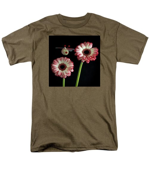 Men's T-Shirt  (Regular Fit) featuring the photograph Bee Happy by Shirley Mitchell