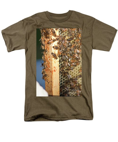 Bee Hive 4 Men's T-Shirt  (Regular Fit) by Janie Johnson