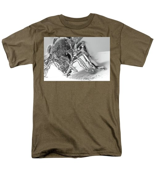 Men's T-Shirt  (Regular Fit) featuring the photograph Bee In Macro Chrome by Micah May