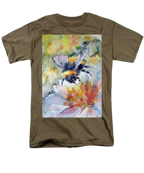Bee On Flower Men's T-Shirt  (Regular Fit)