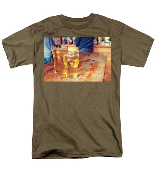 Men's T-Shirt  (Regular Fit) featuring the photograph Beers In A Pub by Patricia Hofmeester