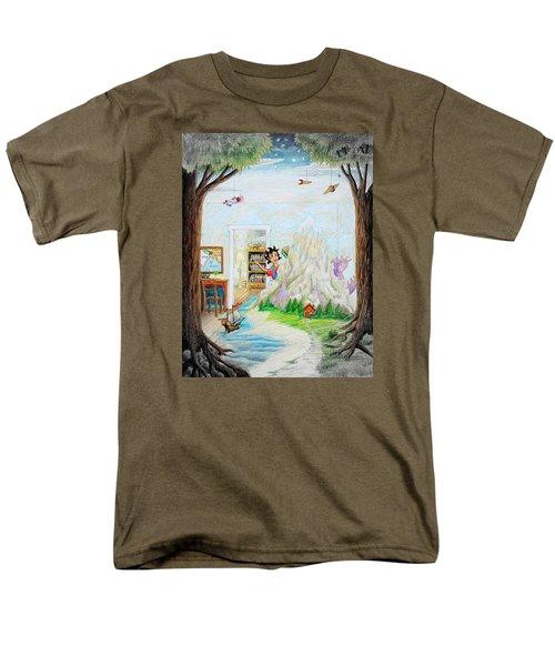 Beginning A Book Men's T-Shirt  (Regular Fit) by Matt Konar