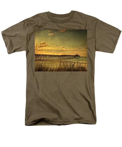 Behind Cherry Grove Pier  Men's T-Shirt  (Regular Fit) by Trish Tritz